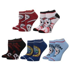 Friday the 13th Ankle Socks Adult 5 Pack Horror
